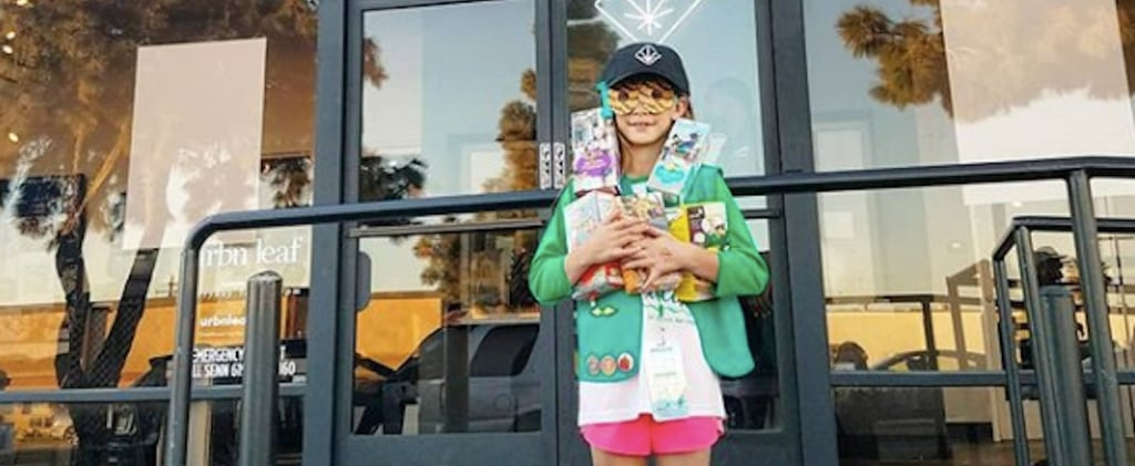 Girl Scout Sells Cookies Outside Legal Weed Dipensary