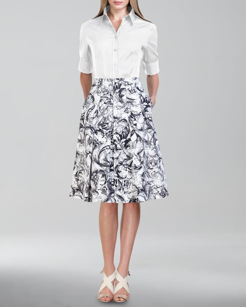 Carolina Herrera Cotton Button-Front Shirt ($495)