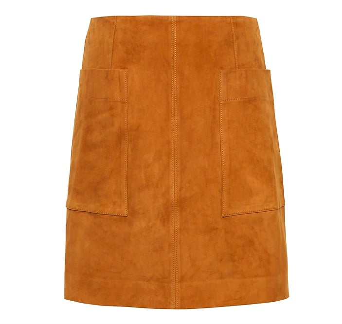 Stretch-Suede Mini Skirt