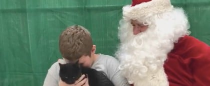 Video of Boy Getting a Cat For Christmas