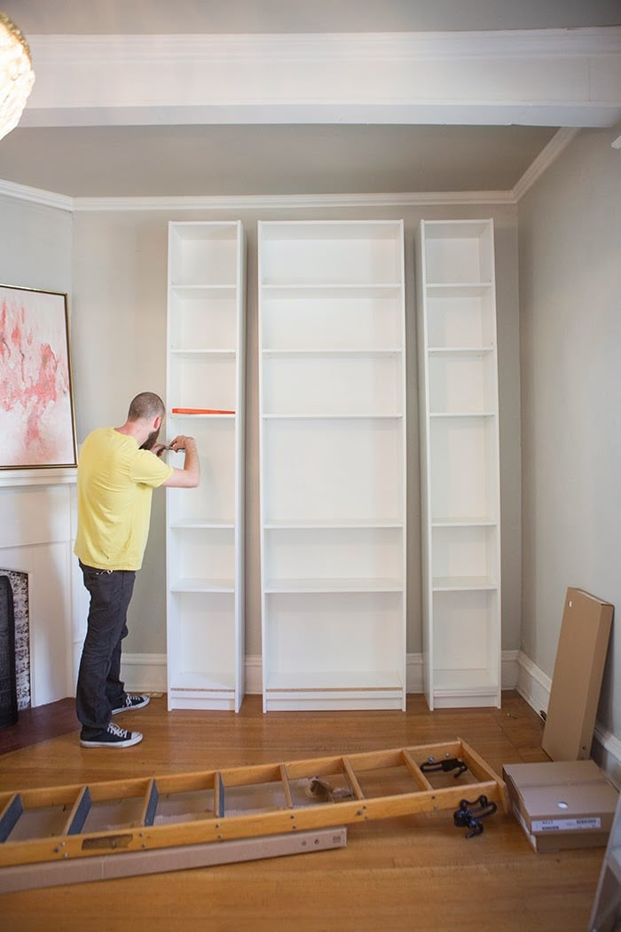 Diy Bookshelf Wall Built Ins