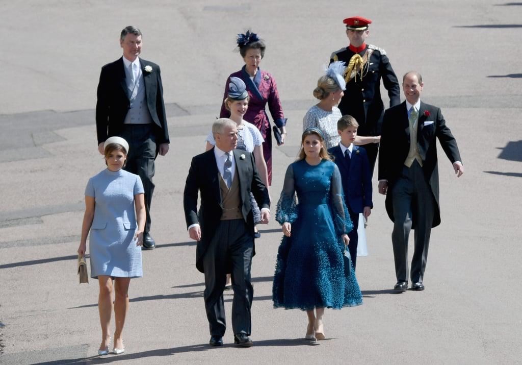 Princess Eugenie, Prince Andrew, Princess Beatrice, and Princess Anne