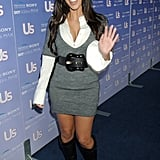 Kim gave a smile and wave as she arrived for Us Weekly's Hot Hollywood event in September 2006.