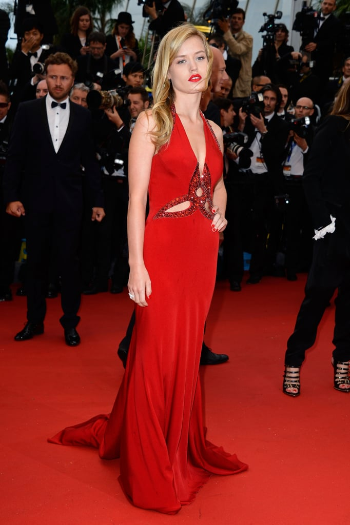Georgia May Jagger's red Roberto Cavalli dress showed off just the ...