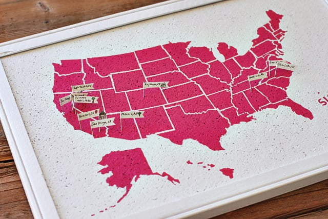 DIY Travel Map Bulletin Board (Free)