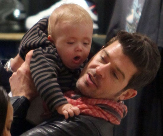 Slide Picture of Robin Thicke Holding Julian Thicke