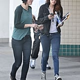 Kristen checked her phone.