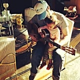 Josh Kelley taught his daughter Adalaide how to play the guitar. Source: Instagram user joshbkelley