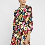 Alice + Olivia Mini Puff-Sleeve Mini Dress