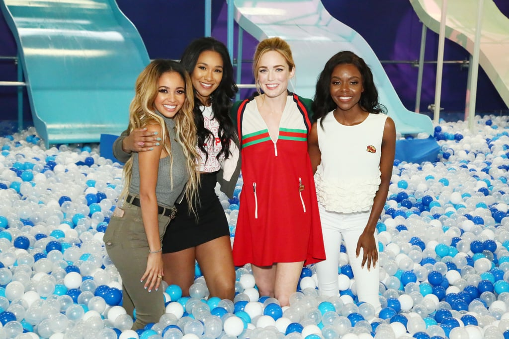 Pictured: Vanessa Morgan, Candice Patton, Caity Lotz, and Ashleigh Murray