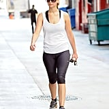 Jennifer Lawrence worked out before attending the Hollywood Foreign Press Association's Installation Luncheon.