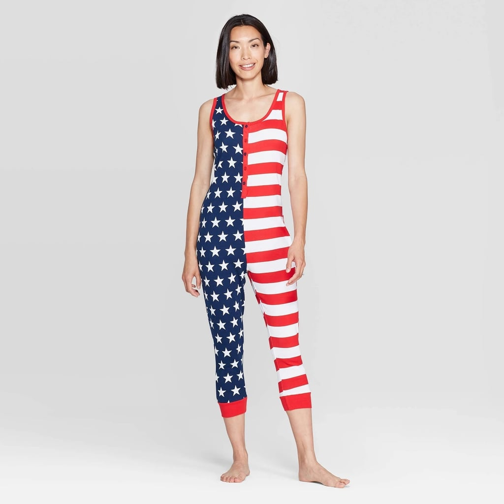Snooze Button Women's Stars and Stripes Family Pajama Union Suit