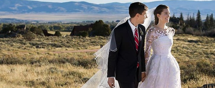 Allison Williams Got Married in a Breathtaking Oscar de la Renta Gown