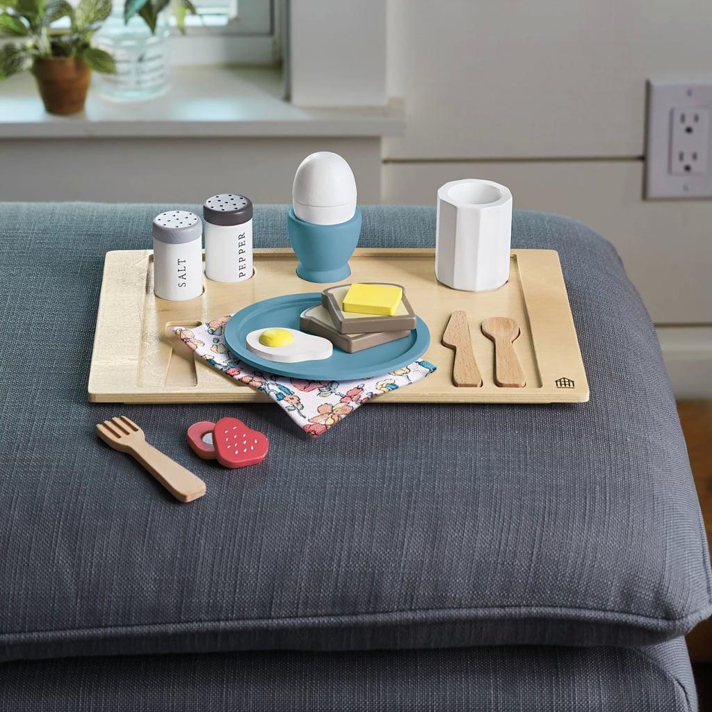 Wooden Toy Breakfast Tray