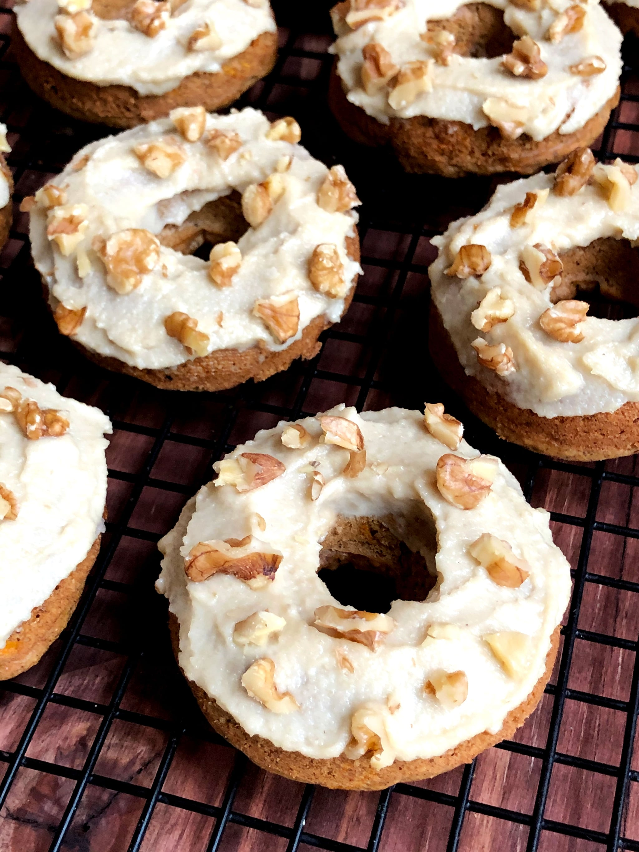 Vegan Carrot Cake Doughnuts With Creamy Maple Cashew Frosting Offer 7 Grams of Protein