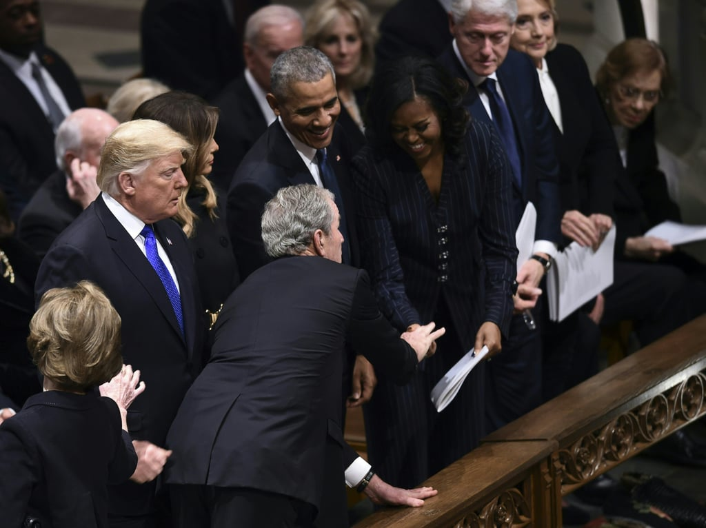 George W Bush Gives Michelle Obama Candy at Father's ...