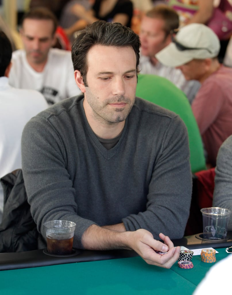 Ben Affleck put his poker skills to the test at Saturday's Playing For Good charity event in Beverly Hills. The fundraiser, which was sponsored by Las Vegas's Tropicana hotel, also drew celebs like Paul Rudd and Nigel Lythgoe to the tables. Ben is back home after making a quick trip to Paris a couple of weeks ago and has been hanging out with his girls, Jennifer, Seraphina, and Violet, lately as he preps to direct his upcoming project Argo. The film took him to Turkey to scout locations in April, but he was sure to head back to LA just in time for Mother's Day. Ben chose to focus on his work behind the camera instead of accepting a role in Baz Luhrmann's The Great Gatsby. Fans will still get a chance to see Ben on screen in an untitled Terrence Malick project that also stars Rachel McAdams. The already-completed movie's attracting plenty of buzz, especially now that Malick's The Tree of Life won the Palme d'Or, the Cannes Film Festival's highest honor, over the weekend.