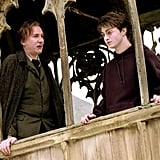 Here's Harry and Lupin on the bridge in Harry Potter and the Prisoner of Azkaban.