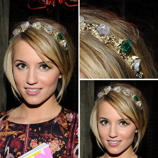 Pictures of Dianna Agron's Hair and Headband at the Nylon Magazine January Launch Party