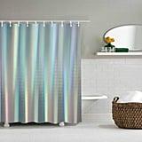 House Shower Curtain Decor, Fabric Bathroom Set With Hooks
