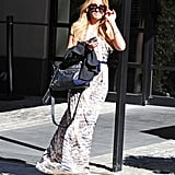 Lauren Conrad headed out on her book tour in a breezy maxi by Heartloom.