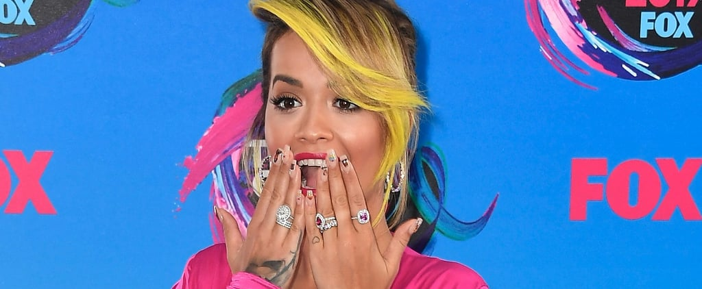 OMG, Rita Ora Is Literally Wearing Sarah Jessica Parker's Face on Her '90s Nail Art