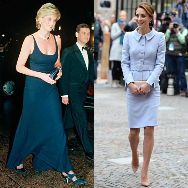 Princess Diana and Kate Middleton Wearing Catherine Walker