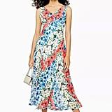 Topshop Glitch Floral Bias Midi Dress