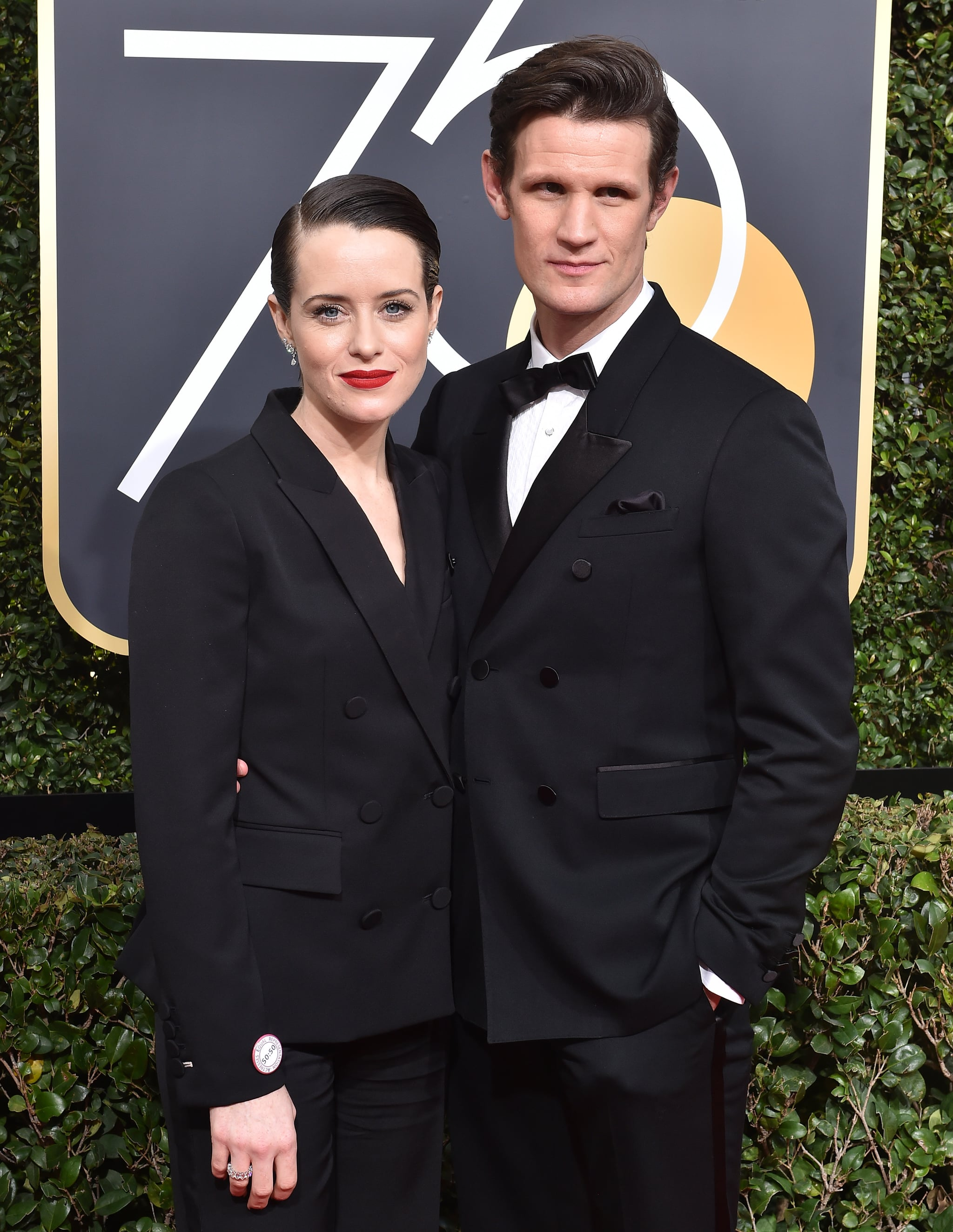 BEVERLY HILLS, CA - JANUARY 07:  Actors Claire Foy and Matt Smith attend the 75th Annual Golden Globe Awards at The Beverly Hilton Hotel on January 7, 2018 in Beverly Hills, California.  (Photo by Axelle/Bauer-Griffin/FilmMagic)