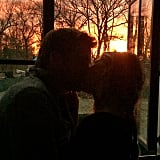 Gisele Bündchen and Tom Brady got romantic in front of the sunset.