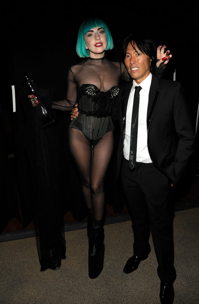 """Apparently before Lady Gaga's first runway show (Mugler's Fall 2011 show), she told her stylist and Mugler creative director Nicola Formichetti and Stephen Gan (who presented her with last night's Fashion Icon Award):""""If I throw up will you tell them it was performance art?"""""""