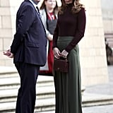 Kate Middleton Wears Jigsaw Pants and Warehouse Sweater