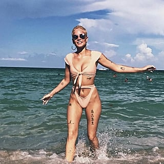 Halsey Wearing a Bikini