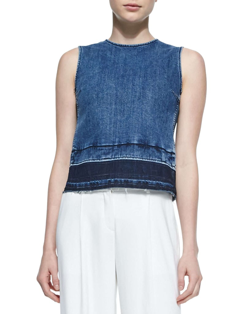 Theory Sleeveless Denim Top