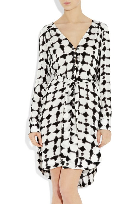 A.L.C. Charly Printed Silk Shirt Dress ($560)