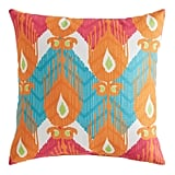 Dancing Flames Ikat Pillow