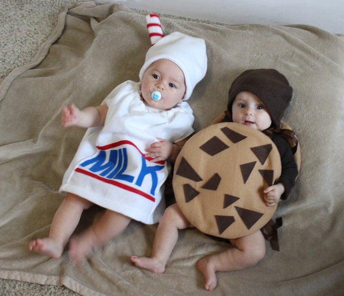 Milk and Cookie Halloween Costumes ($110 for set of 2)  sc 1 st  Popsugar & Milk and Cookie Halloween Costumes ($110 for set of 2) | Kids ...