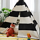 Striped Reading Tent