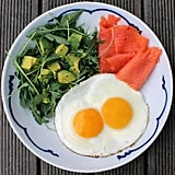 Fried Eggs and Smoked Salmon