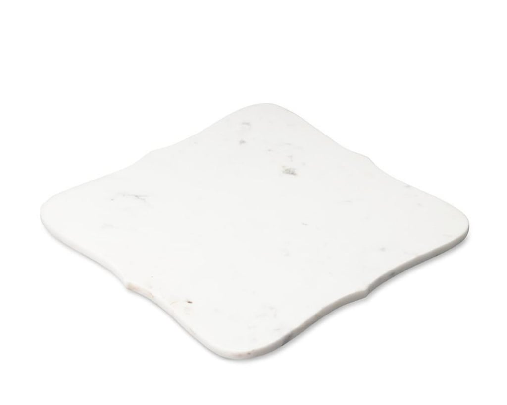 Williams-Sonoma Scalloped White Marble Cheese Board, $35.20