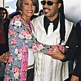 Whitney Houston and Stevie Wonder