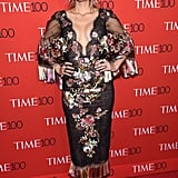 Wearing Marchesa to the 2017 Time 100 Gala.