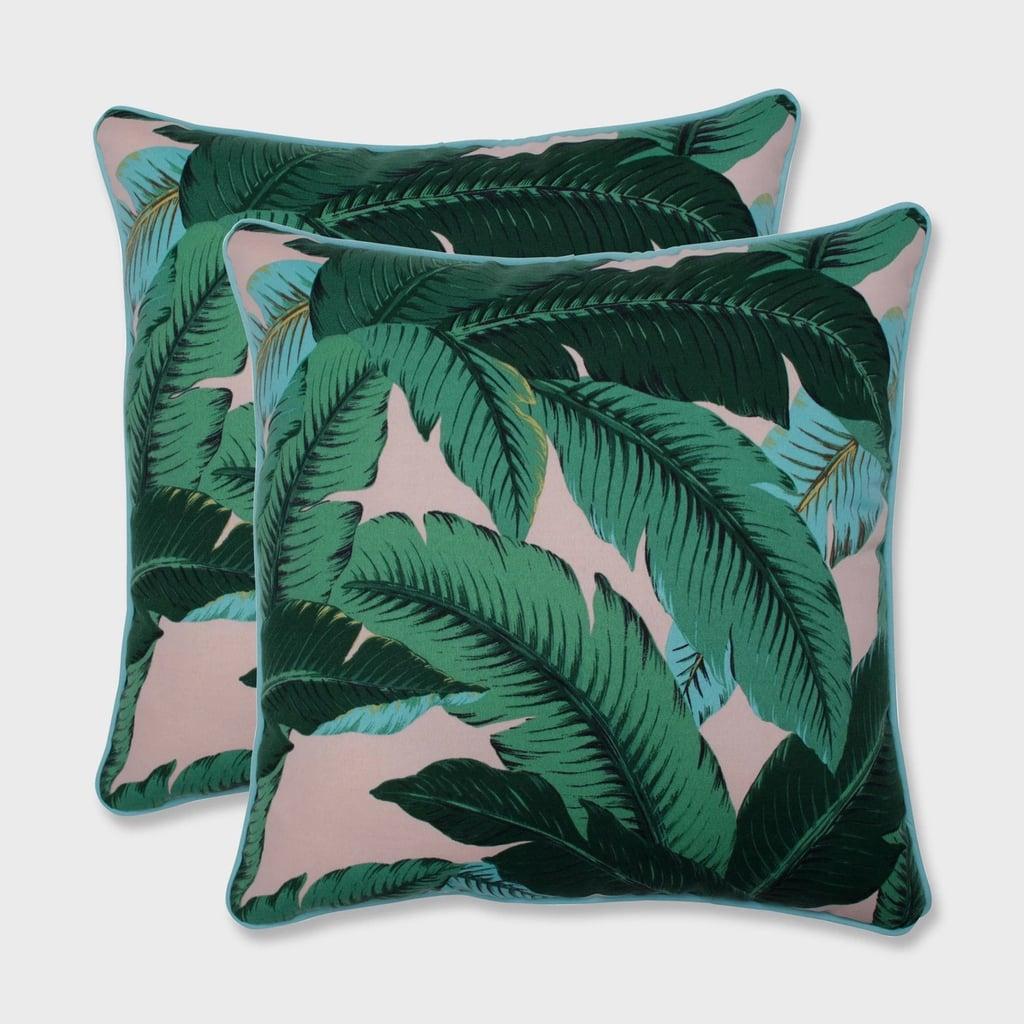 Swaying Palms Outdoor Throw Pillow