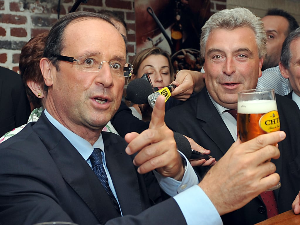 Francois Hollande visited a brewery during his 2012 campaign.