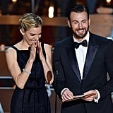 With Chris Evans