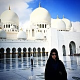 Josephine Skriver also visited the Sheikh Zayed Grand Mosque. . .