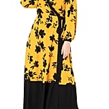 Eloquii Floral Colorblock Long-Sleeve Maxi Wrap Dress
