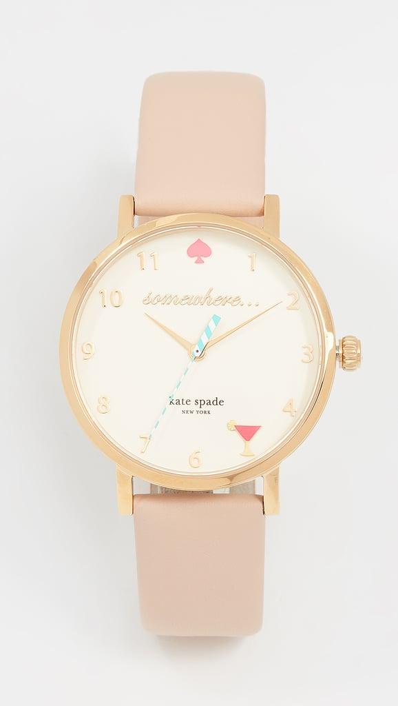 Kate Spade New York 5 O'Clock Metro Leather Watch
