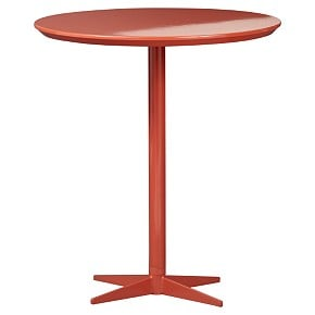 Maltby's side table is the CB2 Ergo Drink Table ($39.95 on sale).