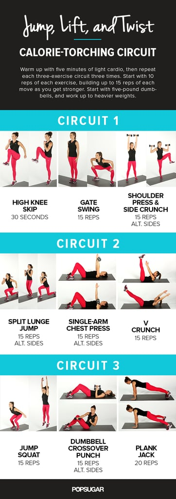 Printable Workout With Plyometrics | POPSUGAR Fitness